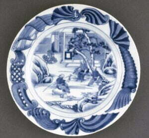 A blue and white dish, Qing dynasty, Qianlong period, 28.5m diameter. British Museum Photograph © British Museum.