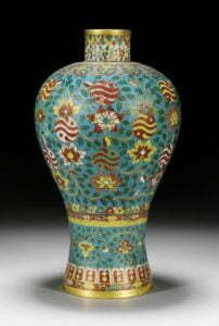 A cloisonné meiping vase, Ming dynasty, 16th century, 36.2cm high.