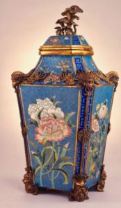 A cloisonné baluster vase and cover, Qing dynasty, Qianlong period (1736-1795), 54cm high, purchased from Alistair Simpson, 1992